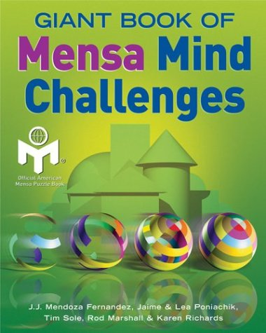 Giant Book of Mensa Mind Challenges   2003 9781402710490 Front Cover
