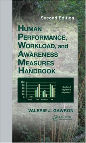 Human Performance, Workload, and Situational Awareness Measures Handbook, Second Edition  2nd 2008 (Revised) edition cover