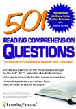 501 Reading Comprehension  5th 9781576859490 Front Cover