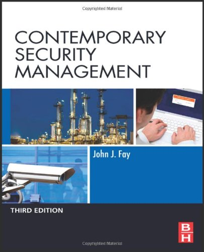 Contemporary Security Management  3rd 2010 edition cover