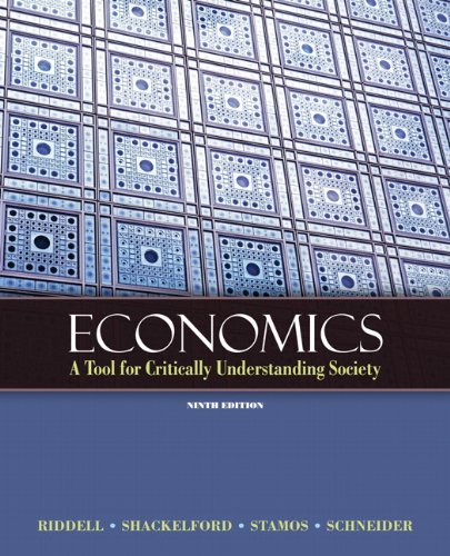 Economics A Tool for Critically Understanding Society 9th 2011 edition cover