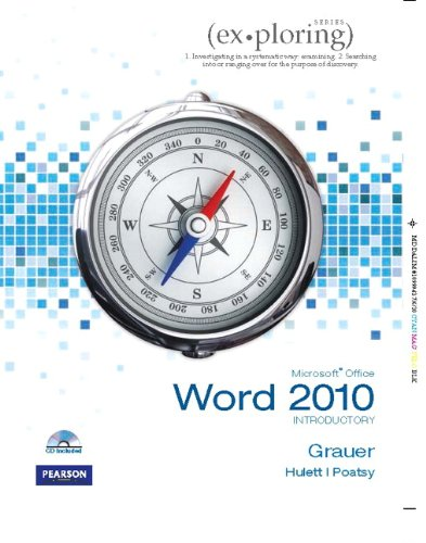 Microsoft Office Word 2010 Introductory   2011 9780135104491 Front Cover
