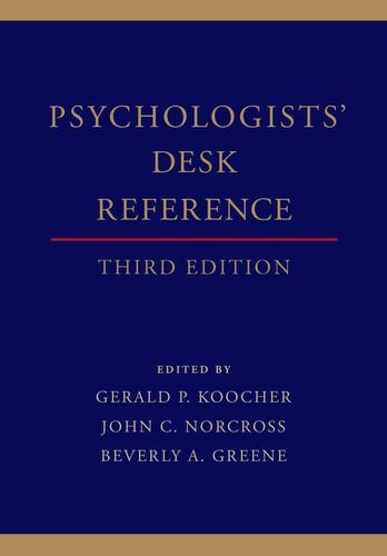 Psychologists' Desk Reference  3rd 2013 9780199845491 Front Cover