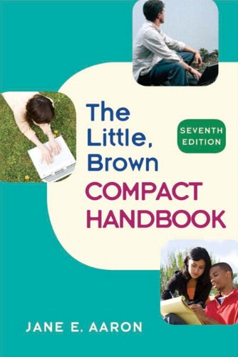 Little, Brown Compact Handbook (With Mycomplab New with Pearson Etext Student Access Code Card)  7th 2010 9780205746491 Front Cover