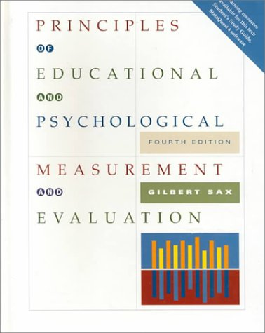 Principles of Educational and Psychological Measurement and Evaluation  4th 1997 (Revised) edition cover
