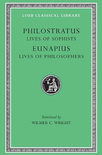 Philostratus Eunapius Lives of the Sophists Lives of the Philosophers and Sophists  1921 edition cover