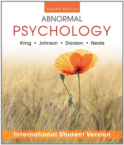 Abnormal Psychology  12th 2012 9781118018491 Front Cover
