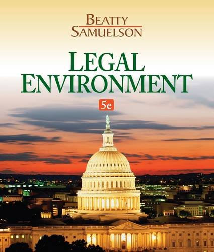 Legal Environment  5th 2014 edition cover