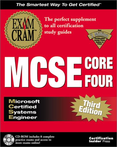 MCSE Core Four Exam Cram 1st (Adapted) 9781576104491 Front Cover