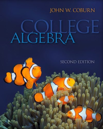 College Algebra  2nd 2010 edition cover