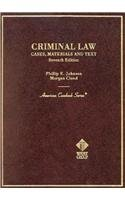Criminal Law  7th 2002 (Revised) edition cover
