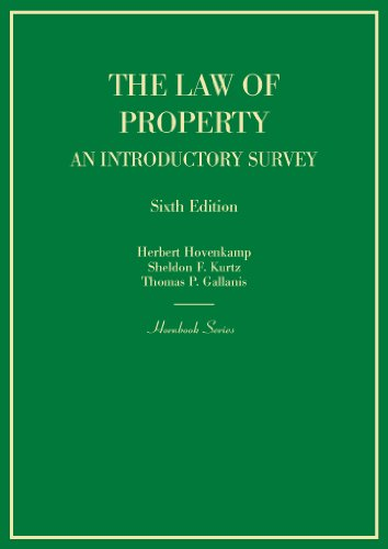 Hornbook on the Law of Property: An Introductory Survey  2014 edition cover