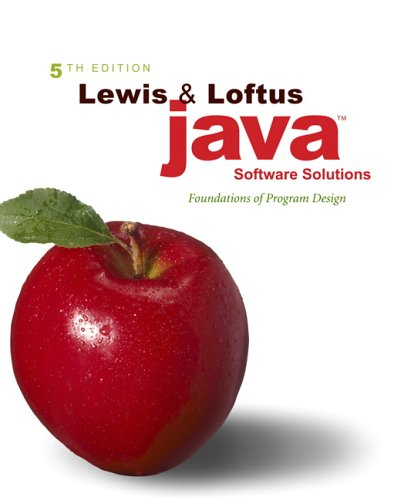 Java Software Solutions Foundations of Program Design 5th 2007 (Revised) edition cover