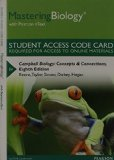 MasteringBiology with Pearson EText -- Standalone Access Card -- for Campbell Biology Concepts and Connections 8th 2015 edition cover