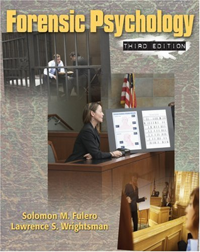 Forensic Psychology  3rd 2009 edition cover