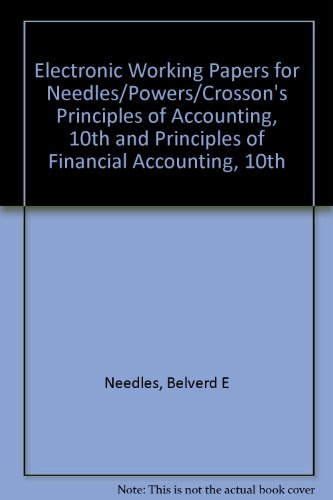 Principles of Financial Accounting  10th 2008 9780618736492 Front Cover