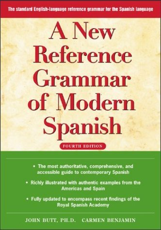 New Reference Grammar of Modern Spanish  4th 2004 (Revised) edition cover