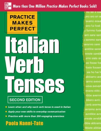 Italian Verb Tenses  2nd 2013 9780071804493 Front Cover