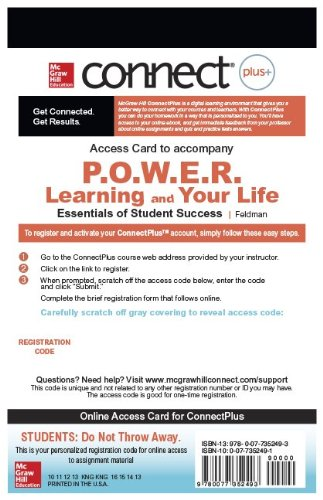 Power Learning & Your Life Connect:   2010 edition cover