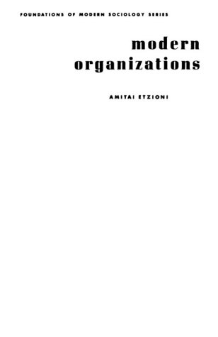 Modern Organizations  1st 1964 edition cover