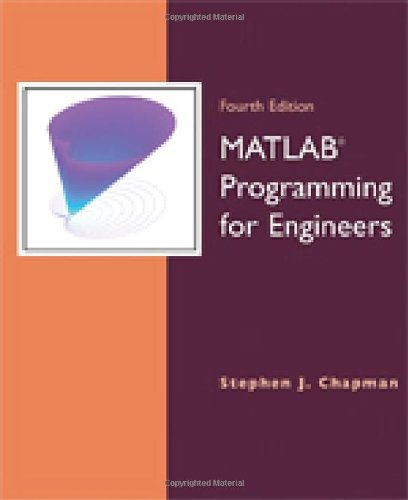 MATLAB Programming for Engineers  4th 2008 edition cover