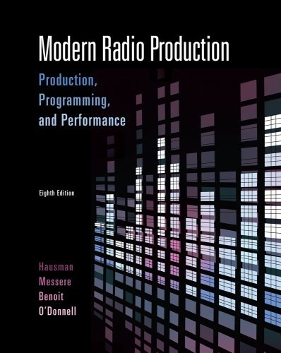 Modern Radio Production Production Programming and Performance 8th 2010 edition cover