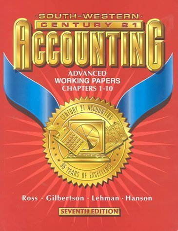 Accounting  7th 1998 9780538677493 Front Cover
