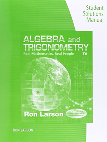 Algebra and Trigonometry: Real Mathematics, Real People 7th 2015 edition cover