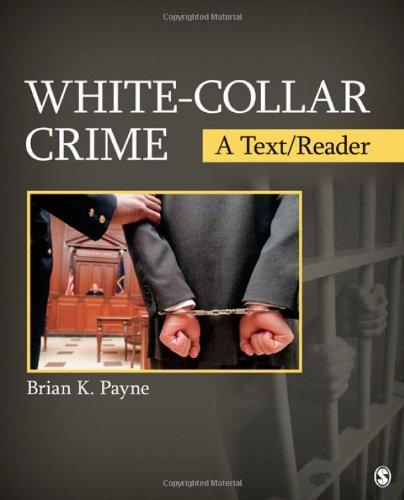 White-Collar Crime A Text/Reader  2012 edition cover