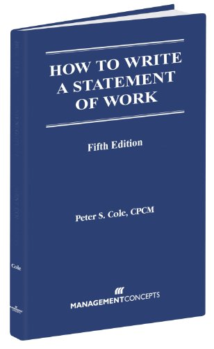 How to Write a Statement of Work 5th Edition 5th 2003 edition cover