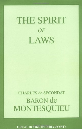 Spirit of Laws   2002 (Unabridged) edition cover