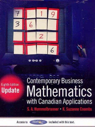 CONTEMP.BUS.MATH W/CAN.APPL.-W N/A 9780137141494 Front Cover