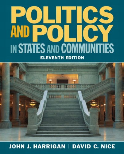 Politics and Policy in States and Communities  11th 2013 edition cover