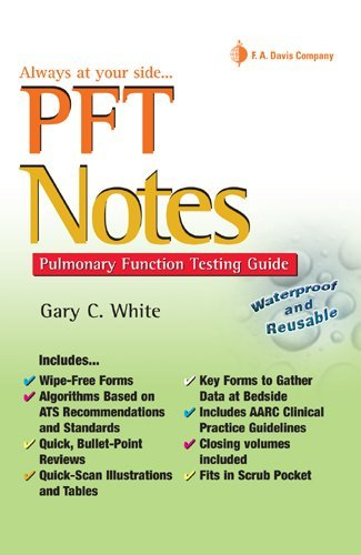 PFT Notes Pulmonary Function Testing Pocket Guide  2009 edition cover