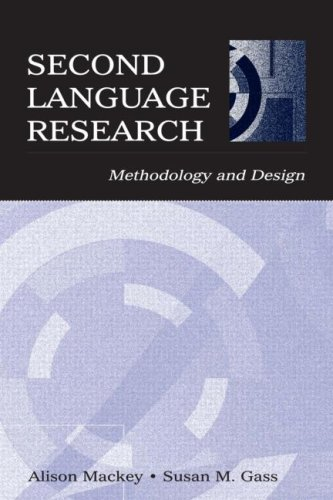 Second Language Research Methodology and Design  2005 edition cover