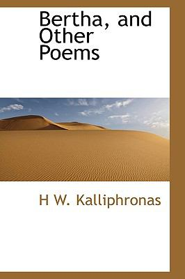 Bertha, and Other Poems:   2009 edition cover