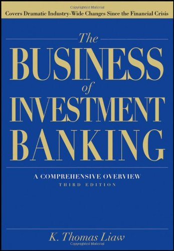 Business of Investment Banking A Comprehensive Overview 3rd 2012 edition cover