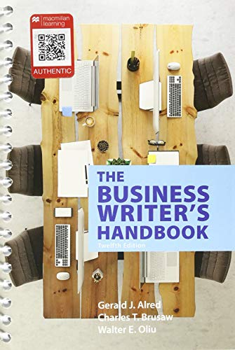 Business Writer's Handbook  12th 2019 9781319058494 Front Cover