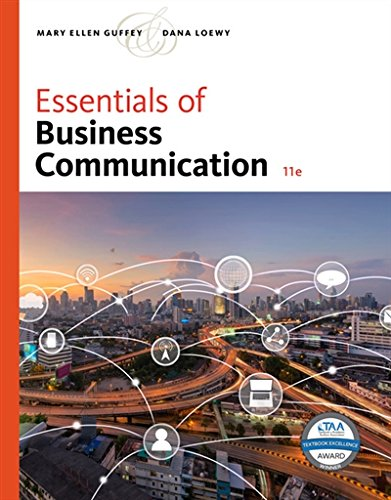 Essentials of Business Communication:   2018 9781337386494 Front Cover