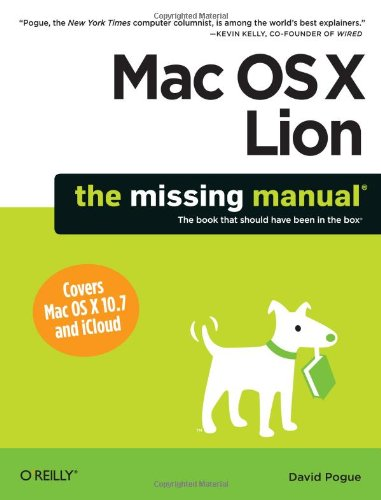 Mac Os X Lion The Missing Manual  2011 edition cover