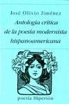Antologia Critica de la Poesia Modernista HispanoAmericana 1st 1985 edition cover