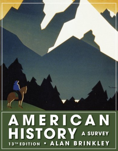 American History A Survey 13th 2009 edition cover