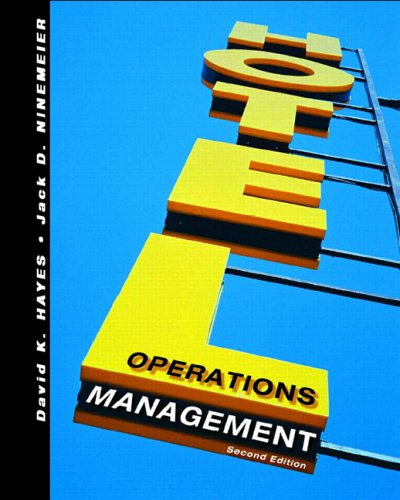 Hotel Operations Management  2nd 2007 (Revised) edition cover