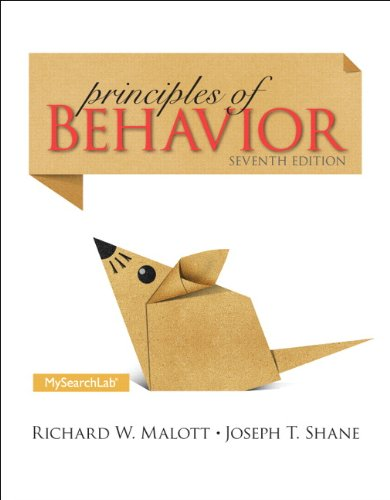 Principles of Behavior:   2013 edition cover