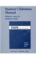 Student Solutions Manual for Stats Data and Models 3rd 2012 edition cover