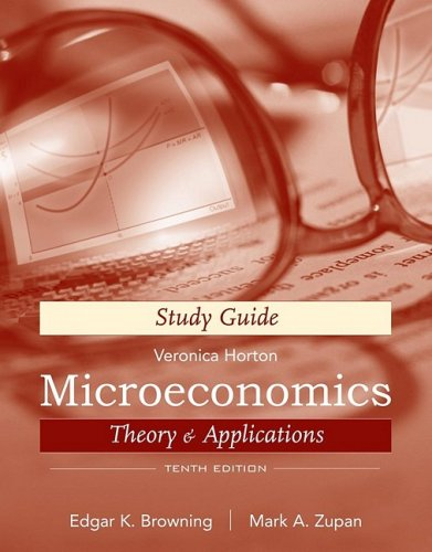 Microeconomics Theory and Applications 10th 2010 (Guide (Pupil's)) edition cover