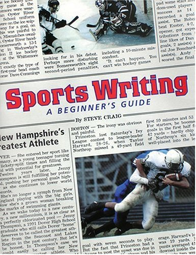 Sportswriting A Beginner's Guide  2001 edition cover