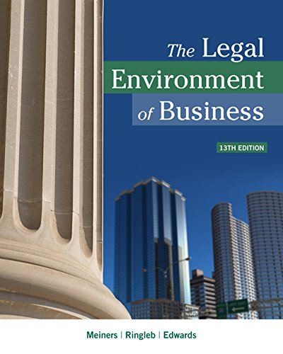 The Legal Environment of Business:   2017 9781337095495 Front Cover