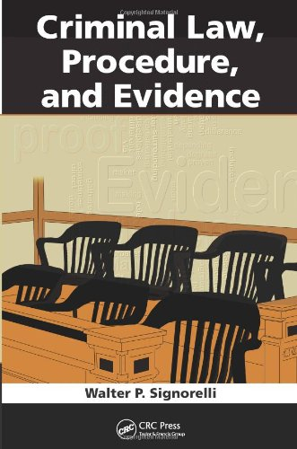 Criminal Law Procedure and Evidence   2011 9781439854495 Front Cover