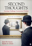 Second Thoughts Sociology Challenges Conventional Wisdom 6th 2015 edition cover